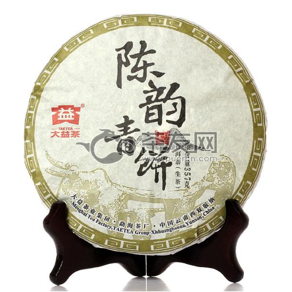2015年大益 陈韵青饼 1501批 生茶 357克