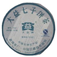 2007年大益 7542青饼 701批 生茶 357克