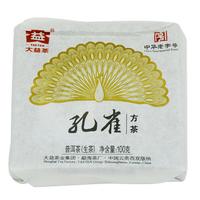 2012年大益 孔雀方砖 201批 生茶 100克