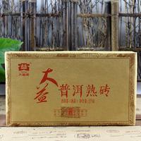 2015年大益 大益普洱熟砖 1501批 熟茶 1000克