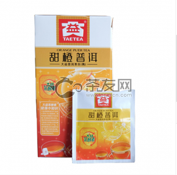 2018年大益 甜橙普洱 熟茶 40克