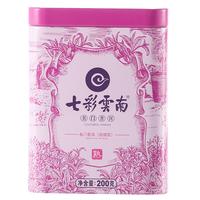 2019年七彩云南 名门普洱(玫瑰花) 熟茶 200克