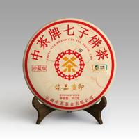 2020年中茶普洱 臻品黄印 熟茶 357克