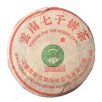 2002年大益 班章生态大叶青饼 生茶 400克