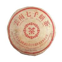 2002年大益 中茶红印红丝带青饼 生茶 357克