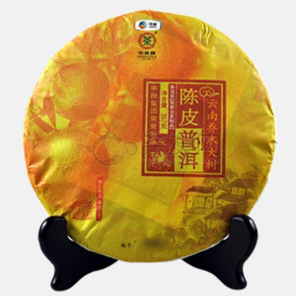 2016年中茶 云南乔木大树 陈皮普洱(熟茶) 357克