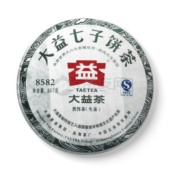 2011年大益 8582青饼 101批 生茶 357克