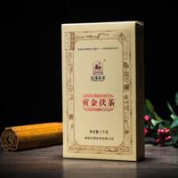 2017年泾渭茯茶 贡金茯茶 黑茶 1000克