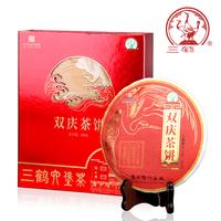 2019年三鹤 双庆茶饼六堡茶 黑茶 500克